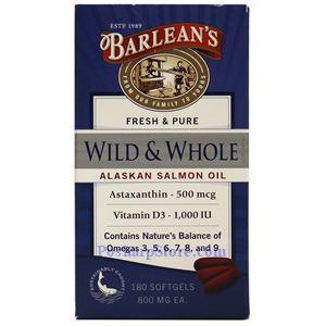 图片 Barlean's牌阿拉斯加野生三文鱼深海鱼油软胶囊 180粒
