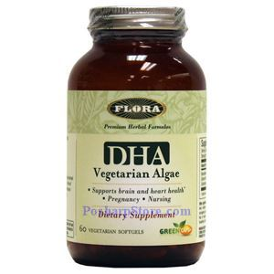 Picture of Flora Vegetarian Algae DHA 60 Softgels