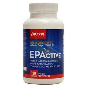 Picture of Jarrow Formulas EPActive Ultra Concentrated and Purified Omega-3 EPA Fish Oil 120 Softgels