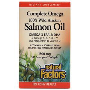 图片 Natural Factors牌全谱Omega100%阿拉斯加深海三文鱼油软胶囊 180粒