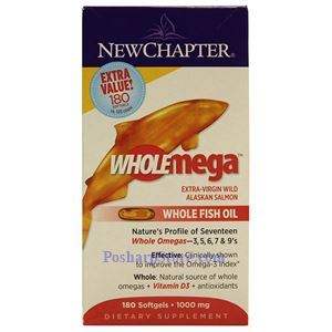 Picture of New Chapter Wholemega® Whole Fish Oil 1000 mg 180 Softgels