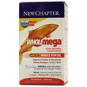 Picture of New Chapter Wholemega® Whole Fish Oil 1000 mg 60 Softgels