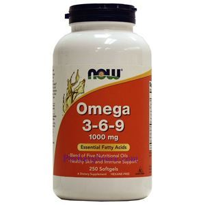 Picture of Now Foods Omega 3-6-9 1000 mg 250 Softgels