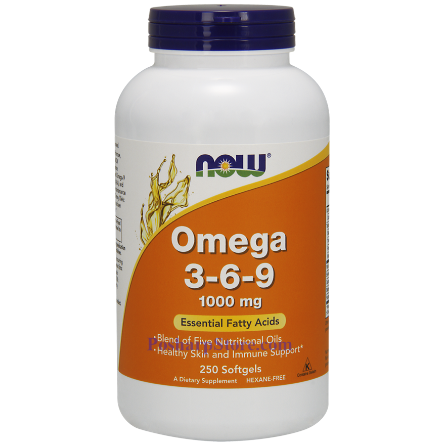 Picture for category Now Foods Omega 3-6-9 1000 mg 250 Softgels