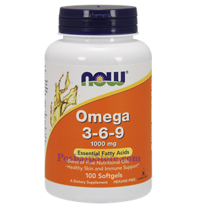 Picture of Now Foods Omega 3-6-9 1000 mg 100 Softgels