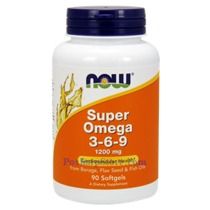 Picture of Now Foods Super Omega 3-6-9 1200 mg 90 Softgels