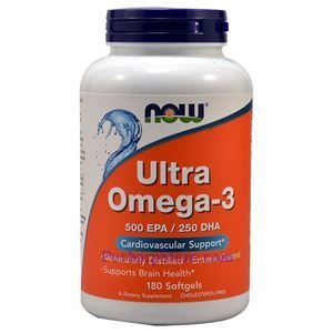Picture of Now Foods Ultra Omega-3 Fish Oil 1000mg 180 Softgels