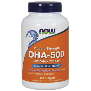 Picture of Now Foods DHA-500 Fish Oil 180 Softgels