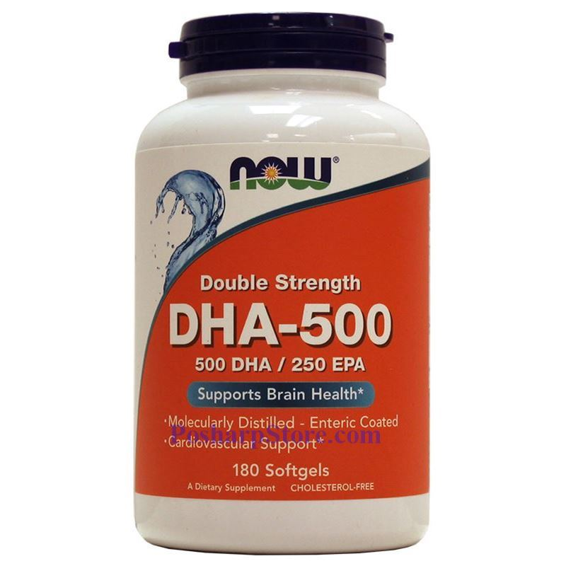 Picture for category Now Foods DHA-500 Fish Oil 180 Softgels