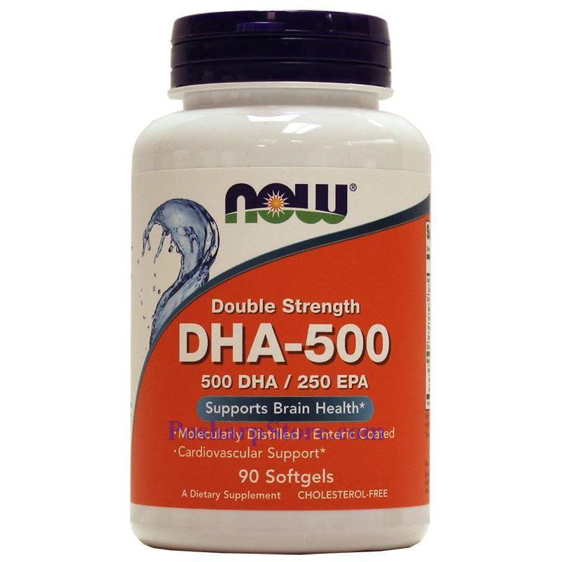 分类图片 Now Foods牌浓缩型DHA-500鱼油软胶囊 1000毫克 90粒