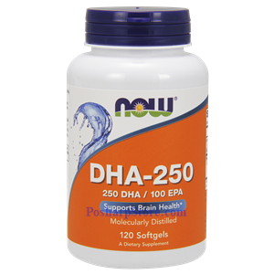 Picture of Now Foods DHA-250 Fish Oil 1250mg 120 Softgels