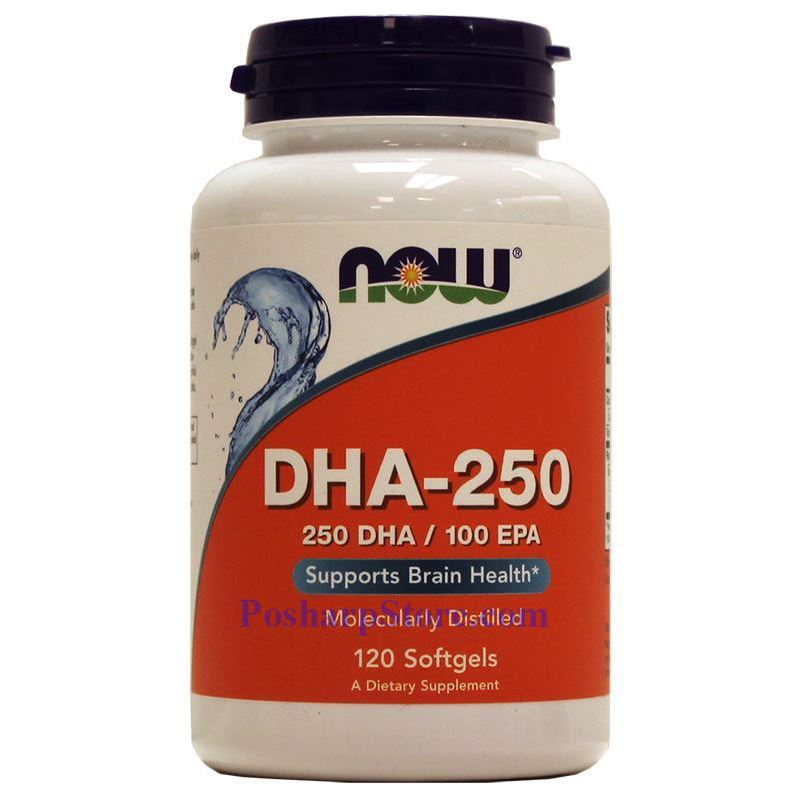 Picture for category Now Foods DHA-250 Fish Oil 1250mg 120 Softgels