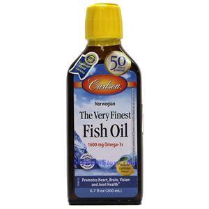 Picture of Carlson Norwegian Very Finest Fish Oil Lemon Flavor 1600mg 6.7 Fl Oz
