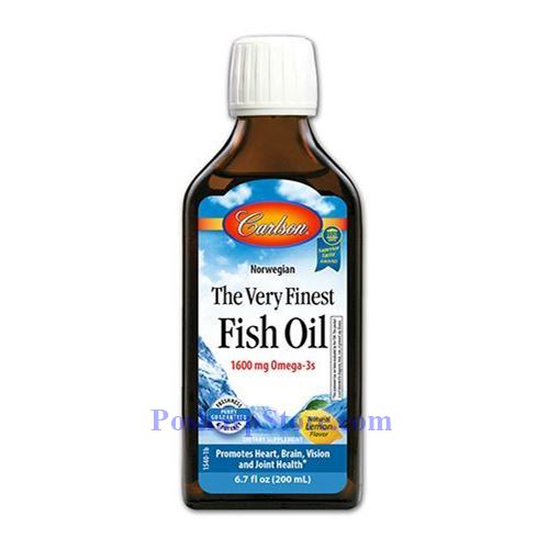 Picture for category Carlson Norwegian Very Finest Fish Oil Lemon Flavor 1600mg 6.7 Fl Oz