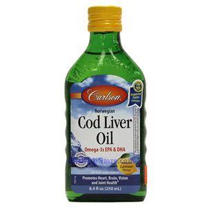 图片 Carlson牌那威鳕鱼鱼肝油 柠檬味 250毫升