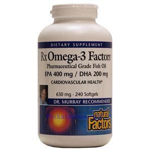 Picture of Natural Factors RxOmega-3 Factors™ Fish Oil 240 Softgels