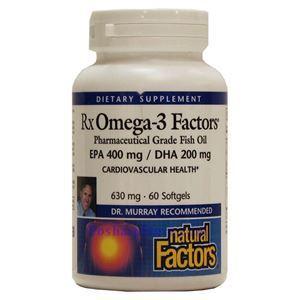 Picture of Natural Factors RxOmega-3 Factors™ Fish Oil 60 Softgels