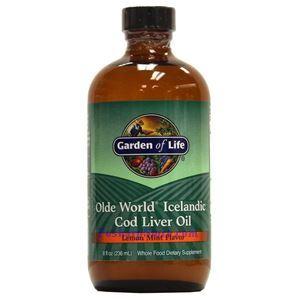 Picture of Garden of Life Olde World® Icelandic Cod Liver Oil Lemon Mint Flavor 8 fl oz