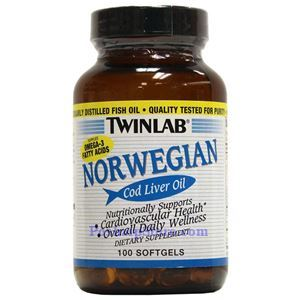 Picture of Twinlab Norwegian Cod Liver Oil 100 Softgels