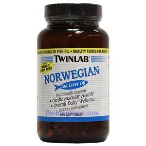 图片 Twinlab牌那威鳕鱼鱼肝油软胶囊 250粒