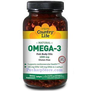 图片 Country Life牌天然Omega-3深海鱼油软胶囊 1000毫克 50粒