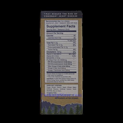 Picture for category Wiley's Finest Wild Alaskan Fish Oil Orange Burst 8.45 fl oz 50 servings