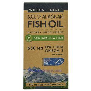 图片 Wiley's Finest牌美国阿拉斯加野生深海鱼油小粒型  630毫克 180粒 90天量