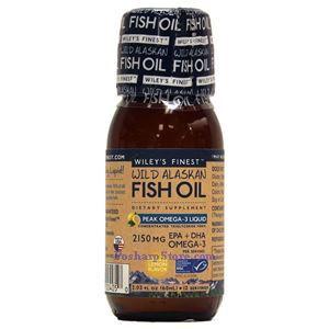 Picture of Wiley's Finest Wild Alaskan Fish Oil Peak Omega-3 Lemon Flavor 2150 mg 2.03 Fl Oz