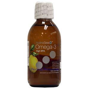 Picture of Ascenta NutraSea  Omega-3 Fish Oil Zesty Lemon Flavor 1500mg 6.8 Fl Oz
