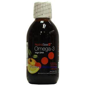 图片 Ascenta牌高DHA型Omega-3液体 多汁橙子味 1000毫克 200毫升
