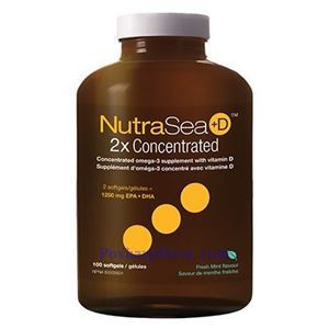Picture of Ascenta NutraSea+D Omega-3 Fresh Mint Flavor 1250 mg 100 Softgels