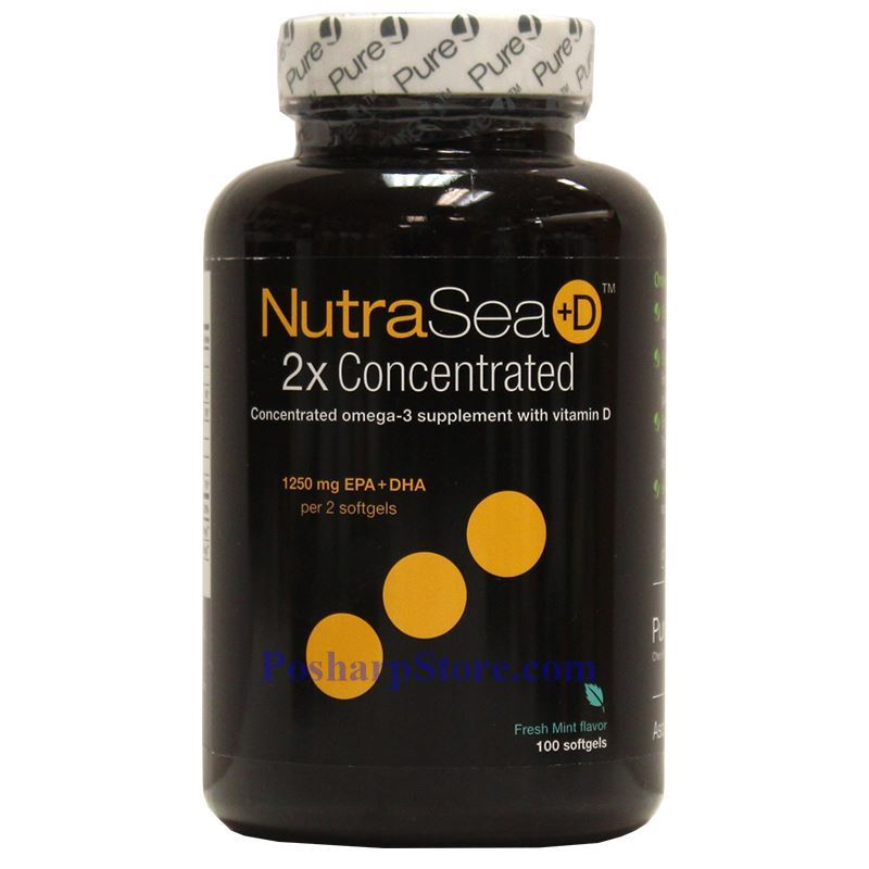 Picture for category Ascenta NutraSea+D Omega-3 Fresh Mint Flavor 1250 mg 100 Softgels