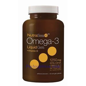 Picture of Ascenta NutraSea+D Omega-3 Fresh Mint Flavor 1250 mg 60 Softgels
