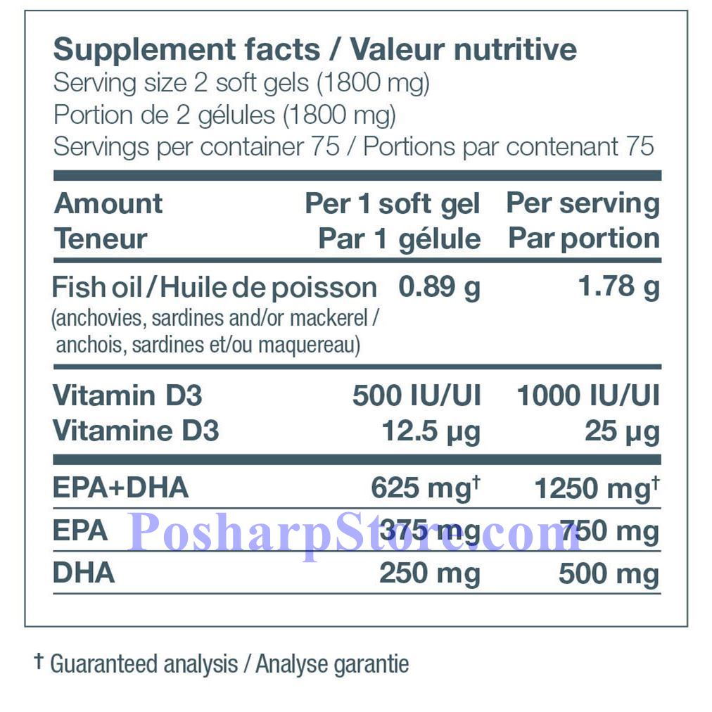 Picture for category Ascenta NutraSea+D Omega-3 Fresh Mint Flavor 1250 mg 150 Softgels