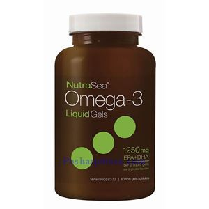 Picture of Ascenta NutraSea Omega-3 Fresh Mint Flavor 1250 mg 60 Softgels