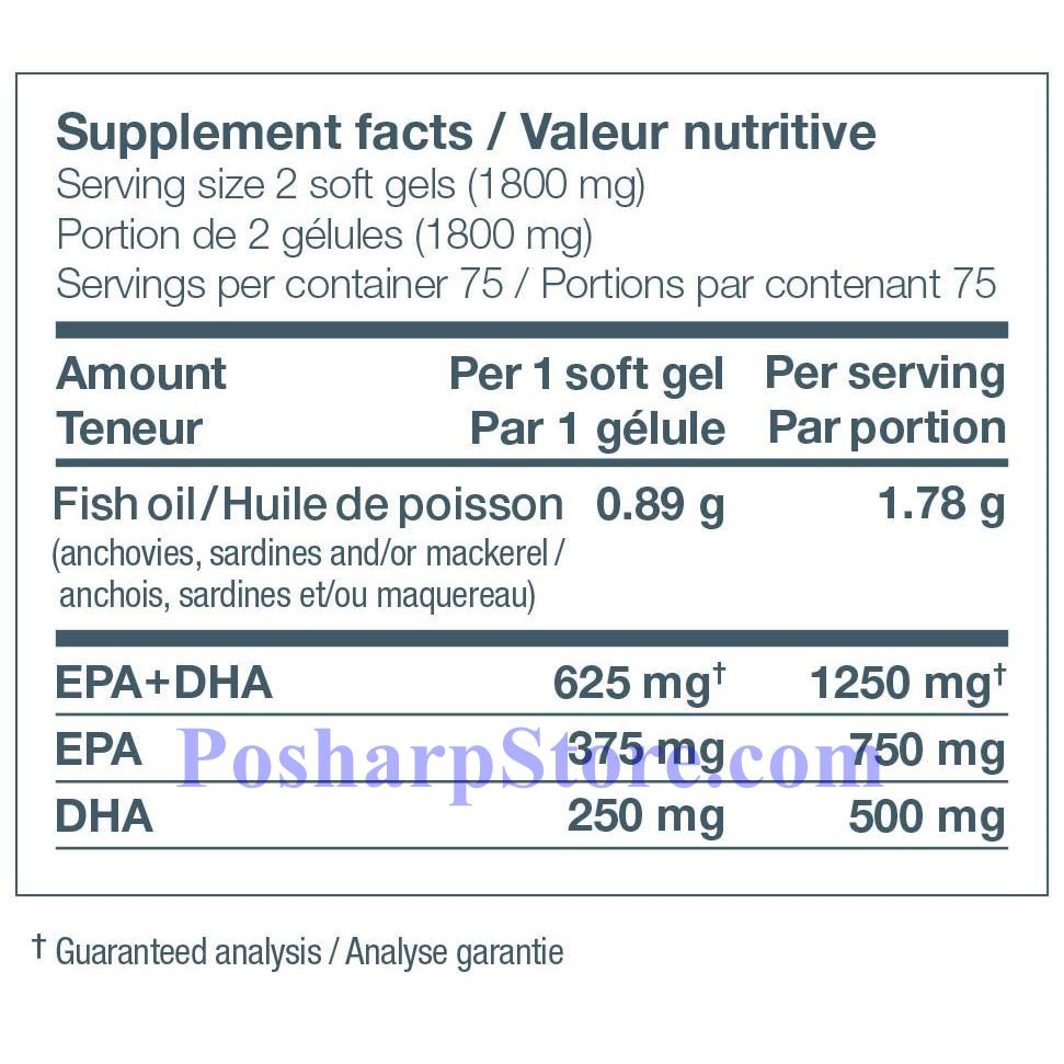 Picture for category Ascenta NutraSea Omega-3 Fresh Mint Flavor 1250 mg 150 Softgels