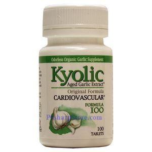 图片 Kyolic牌大蒜精心脏血管配方100片 600毫克 100粒
