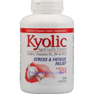 Picture of Kyolic Aged Garlic Extract™ Formula 101 Stress and Fatigue Relief 600mg 300 Capsules