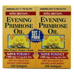 Picture of American Health Royal Brittany™ Evening Primrose Oil Twin Pack 1300 mg 120+120 Softgels