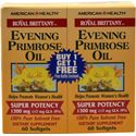 Picture of American Health Royal Brittany™ Evening Primrose Oil Twin Pack 1300 mg 60+60 Softgels