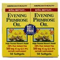 Picture of American Health Royal Brittany™ Evening Primrose Oil Twin Pack 500 mg 50+50 Softgels