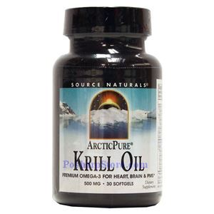 Picture of Source Naturals ArcticPure Krill Oil 500 mg 30 Softgels