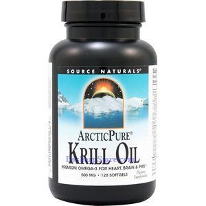 图片 Source Naturals牌纯北极磷虾油软胶囊 500毫克 120粒