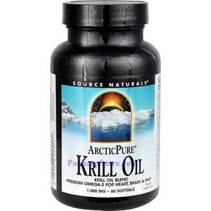 Picture of Source Naturals ArcticPure Krill Oil 1000 mg 60 Softgels