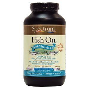 图片 Spectrum Essentials牌鱼油+维生素D胶囊 1000毫克 250粒