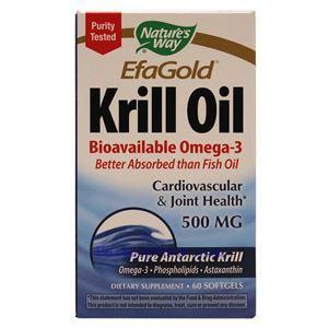 图片 Nature's Way牌EfaGold系列磷虾油软胶囊 500毫克 60粒