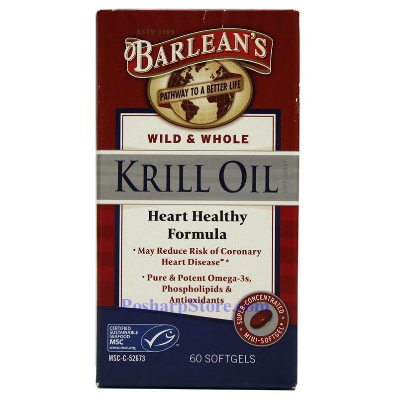 Picture for category Barlean's Wild & Whole Krill Oil 1000mg 60 Softgels