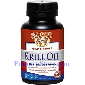 Picture of Barlean's Wild & Whole Krill Oil 1000mg 60 Softgels
