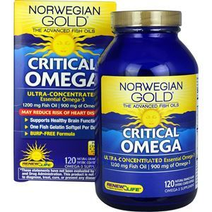Picture of Renew Life Norwegian Gold Critical Omega Ultra-concentrated Fish Oil 1040 mg 120 Softgels