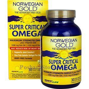 Picture of Renew Life Norwegian Gold Critical Omega Maximum-Strength Fish Oil 30 Softgels